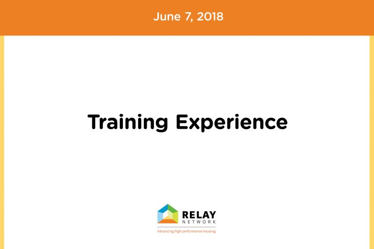 Training Experience