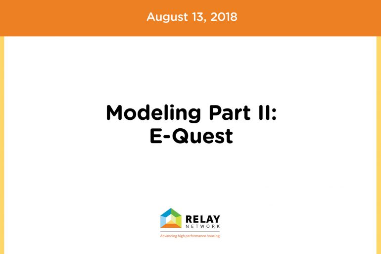Modeling Part II: E-Quest