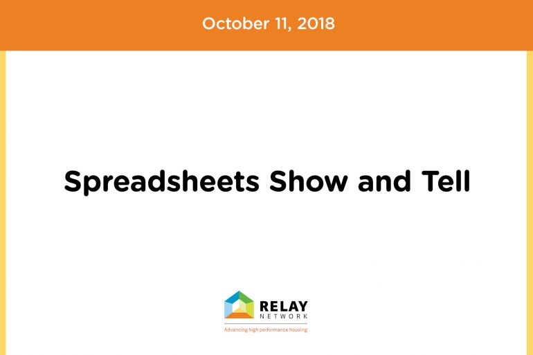 Spreadsheets Show and Tell