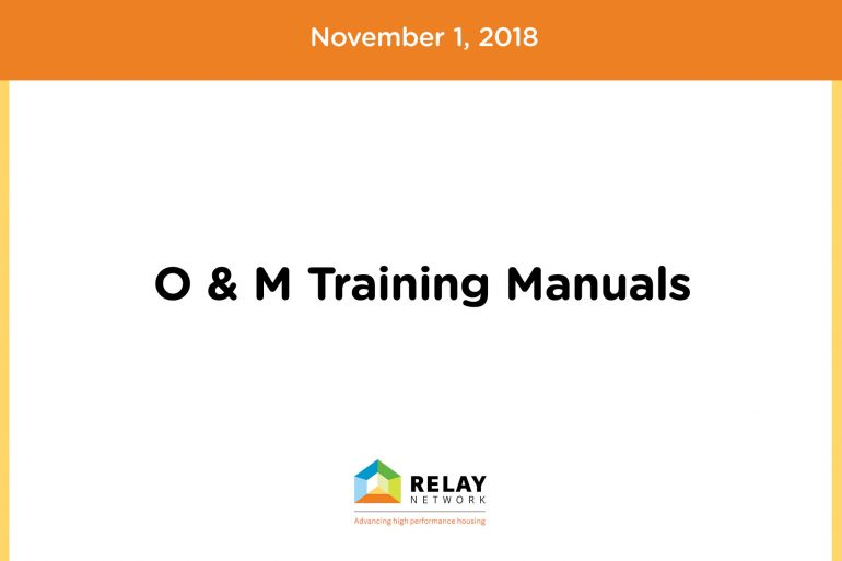 O & M Training Manuals