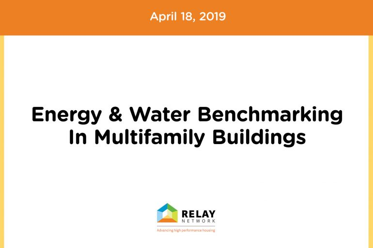 Energy & Water Benchmarking In Multifamily Buildings