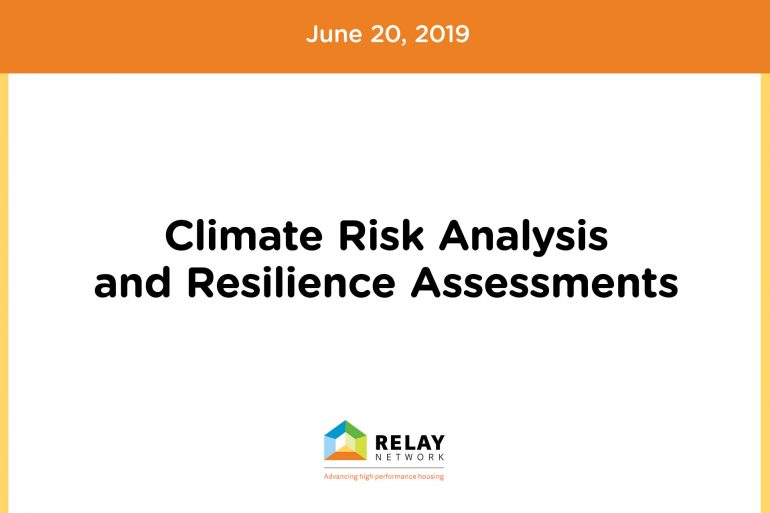 Climate Risk Analysis and Resilience Assessments