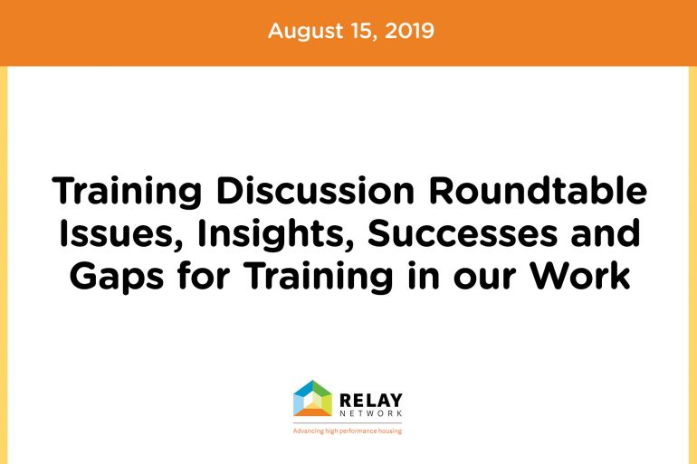 Training Roundtable Discussion