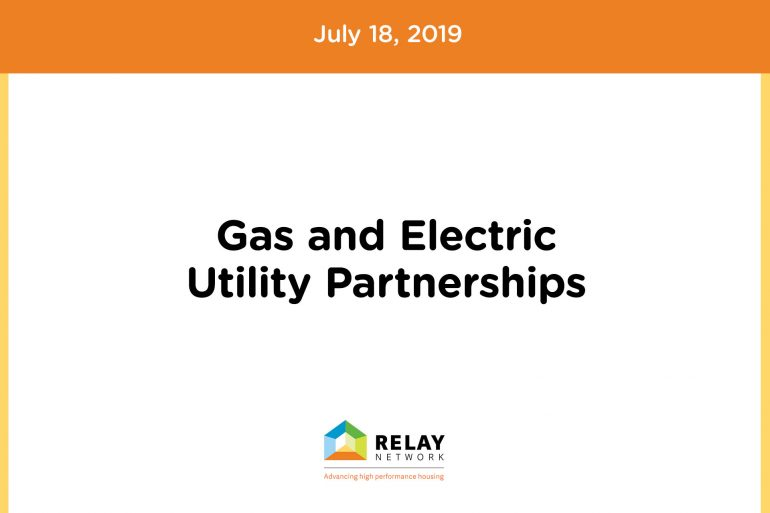 Gas and Electric Utility Partnerships