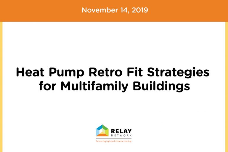 Heat Pump Retro Fit Strategies for Multifamily Buildings