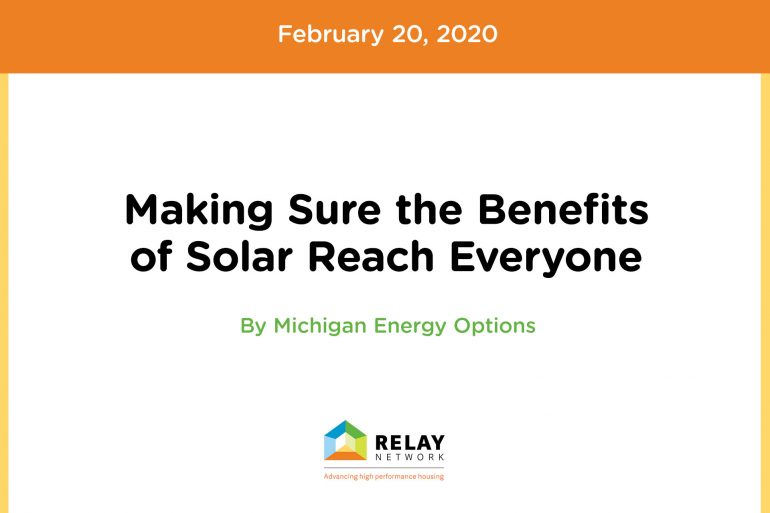 Making Sure the Benefits of Solar Reach Everyone