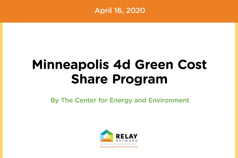 Minneapolis 4d Green Cost Share Program