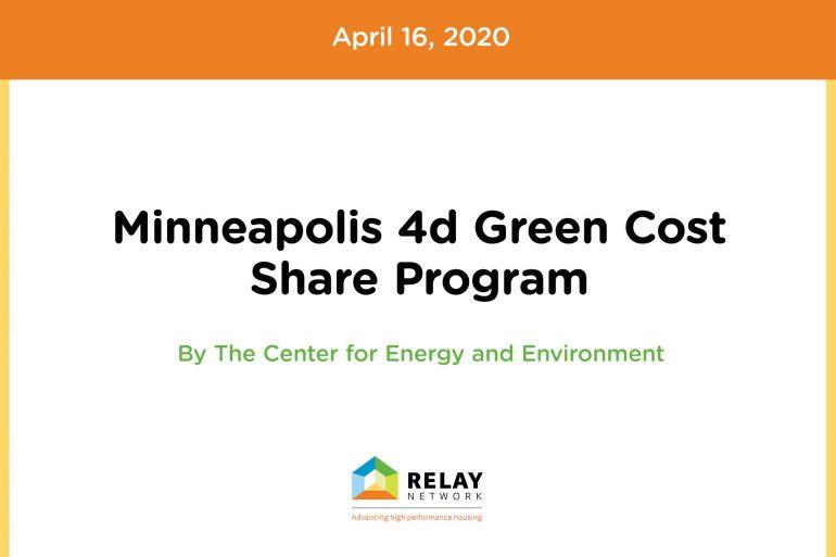 Minneapolis 4d Green Cost Share Program