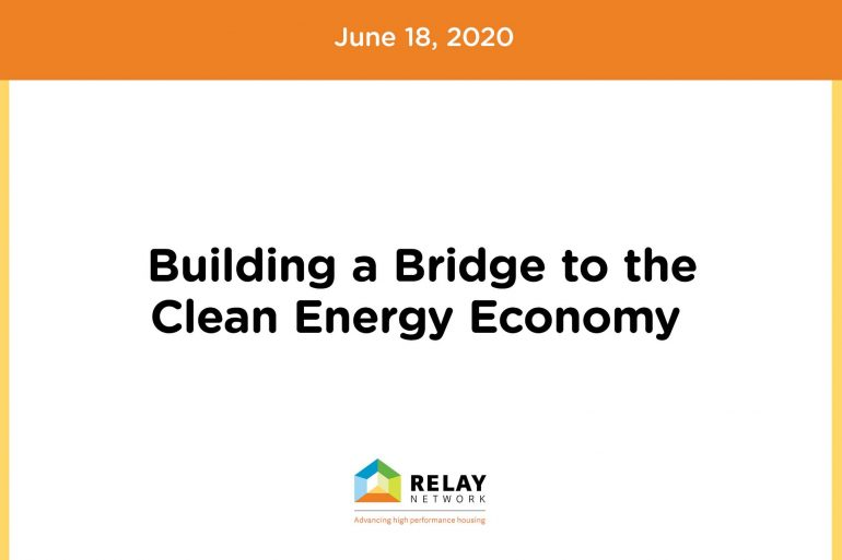 Building a Bridge to the Clean Energy Economy