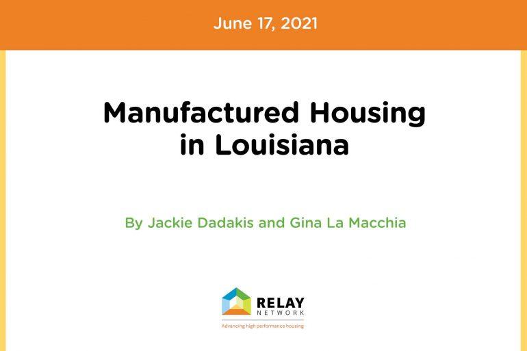 Manufactured Housing in Louisiana